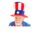 Uncle Sam Head - Unhappy poster