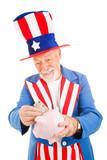 Uncle Sam Saving Money poster