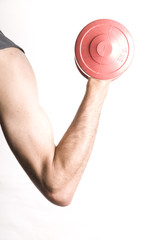 red dumbell