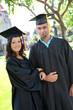 Man and Woman Graduates