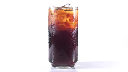 Cold glass of soda background - HD