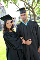 Man and Woman Graduates