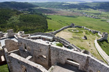 Fortification with cannon gun in medieval Spissky Hrad castle poster