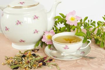 Damascene rose herbal tea