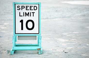 Posted speed limit on beach