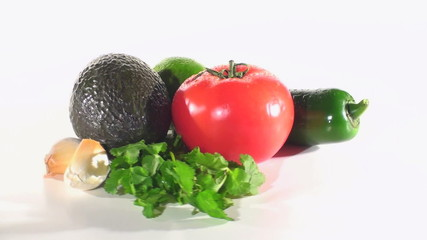 Perfect ingredients for delicious guacamole - HD