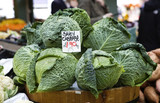 early cabbages. Market place. Borough market poster