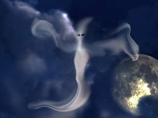 Ghost And Night Sky 2