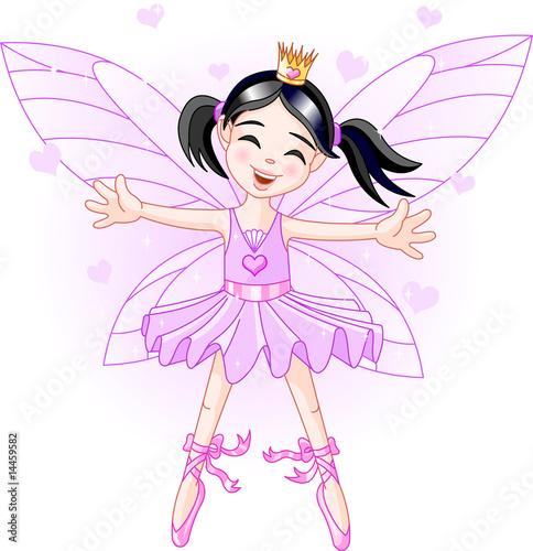 Foto op Aluminium Kasteel Little violet fairy