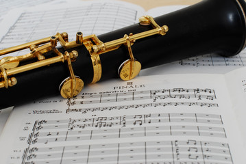 オーボエと楽譜 最終楽章