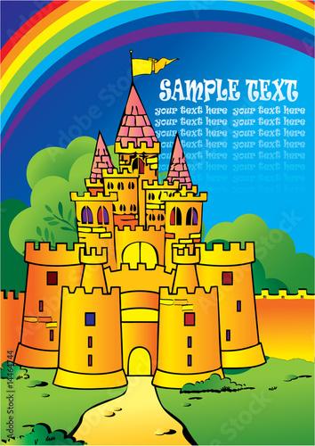 Foto op Aluminium Kasteel Castle Vector Illustration