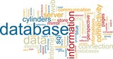 Database word cloud poster