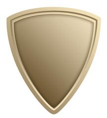Stylized shield illustration, isolated against white