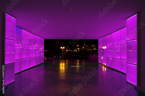 Purple light tunnel