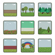 square landscape icons