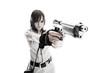Девушка в стиле милитари.