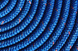Close-up of Coiled Blue Rope