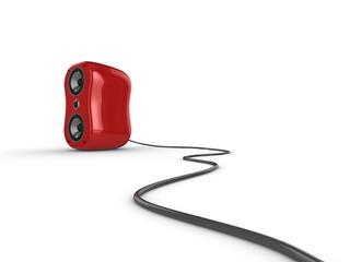 Glossy red speaker