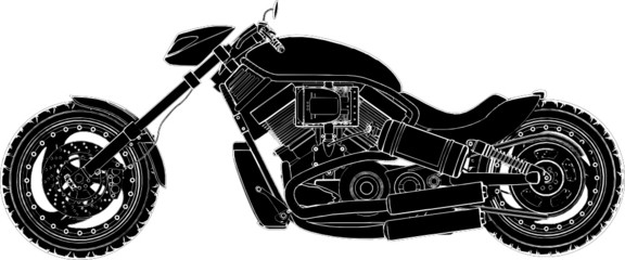 Motorcycle Vector 07