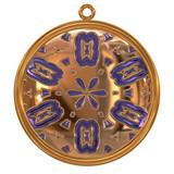 Golden pendant poster