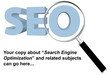 SEO search engine optimized magnifying glass website page