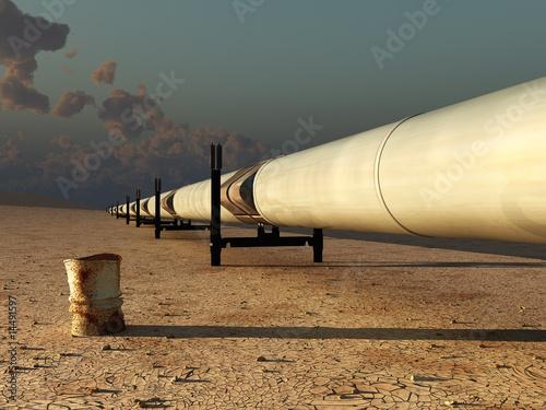 pipeline in desert - 14491597