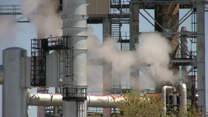 footage of close up of oil refinery