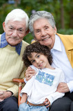 Child and grandparents poster