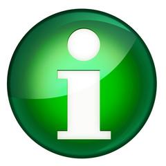 information symbol grün