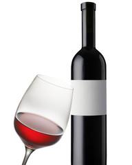 Weinglas auf weiss