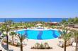 Leinwandbild Motiv Swimming pool area in popular hotel, Antalya, Turkey