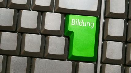 Tastatur oder Keyboard mit Bildung
