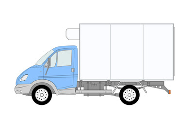 LKW truck with refrigerator