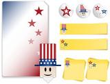 Uncle Sam Kit Adhesive, sticker poster