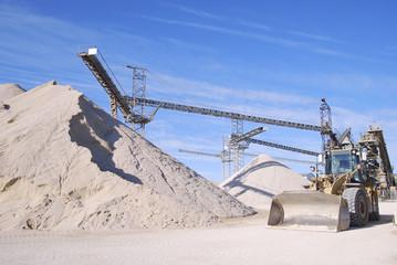 Machine in a stone quarry