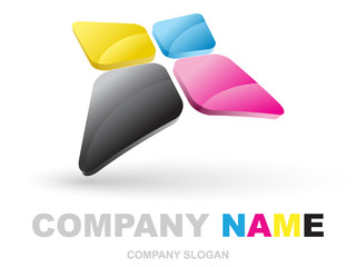 cmyk abstract logotype
