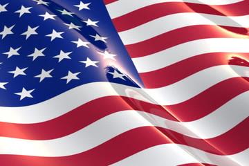 Shiny, glossy flag of the USA - NTSC