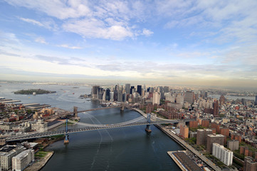 New York city, East river.