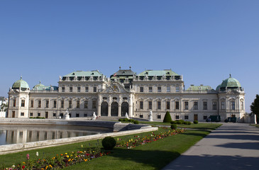 The Belvedere is a baroque palace