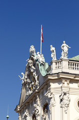 The Belvedere is a baroque palace complex. Palace details