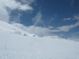 wind and snow on the Mont Blanc