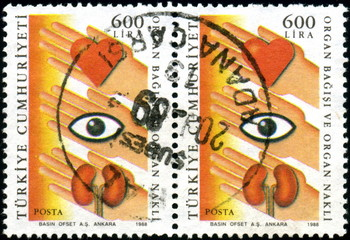 Turquie. Don d'organes. Timbres postaux.