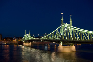 Freedom bridge in Budapest