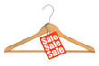 coat hanger and sale tag