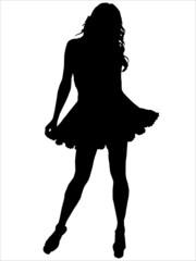 Silhouette femme mode