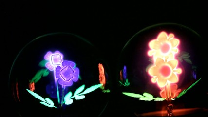 fleur fluorescente