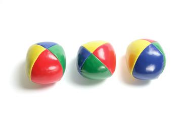 Row of Juggling Balls