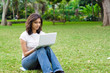 lovely young lady with notebook