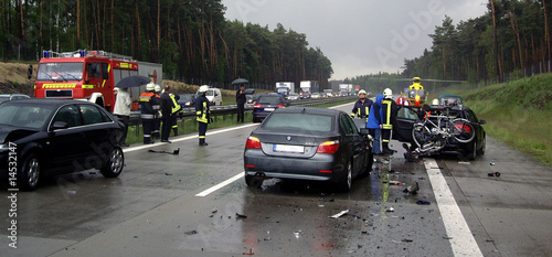 Leinwandbild Motiv Autounfall 4
