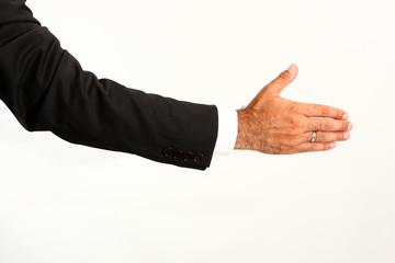 dando la mano
